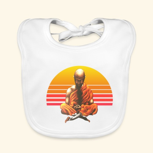 Buddha Yoga Meditation Retro Spiritueller Mönch - Baby Bio-Lätzchen