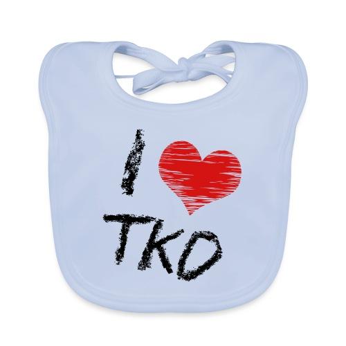 I love tkd letras negras - Babero ecológico bebé