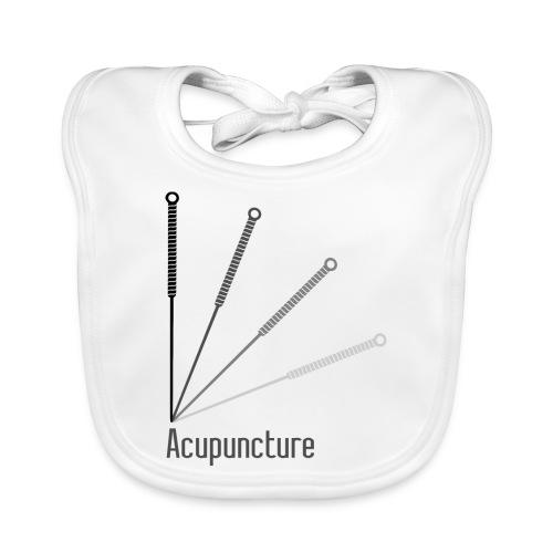 Acupuncture Eventail (logo noir) - Bavoir bio Bébé