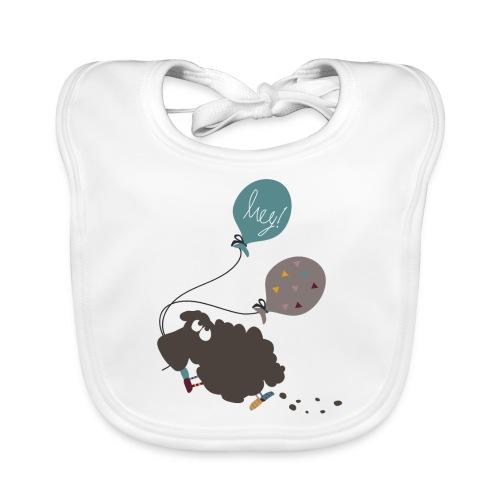 Schaf Elsbeth mit Luftballon - Baby Bio-Lätzchen