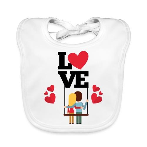 Love couple t-shirt - Bavoir bio Bébé