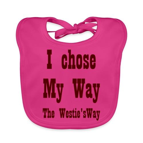 I chose My Way Brown - Ekologiczny śliniaczek