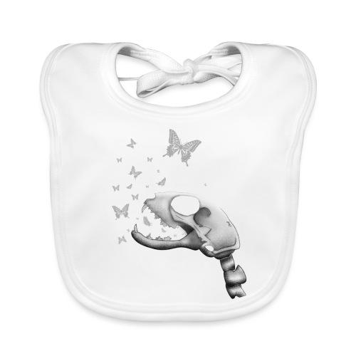 Craneo Gatuno - Babero de algodón orgánico para bebés