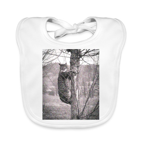 Grumpy Koala Katze im Baum - Baby Bio-Lätzchen