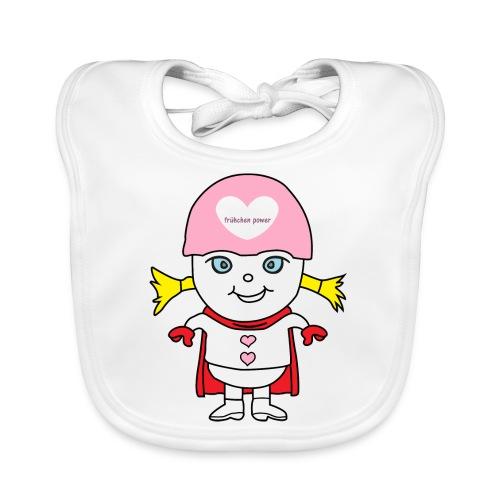 Superheld Mädchen - Baby Bio-Lätzchen