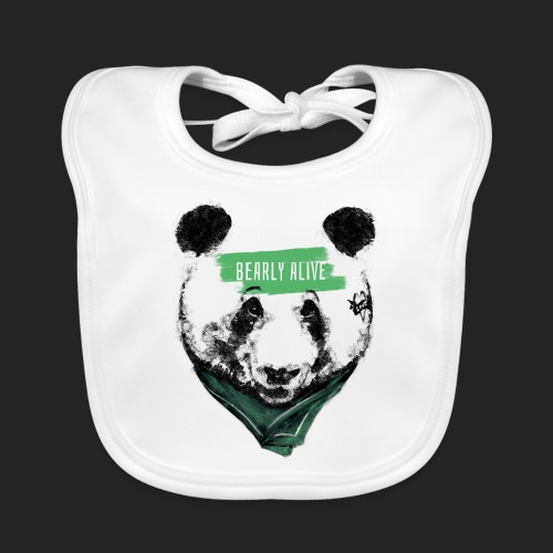 Panda bearly alive - Bavoir bio Bébé
