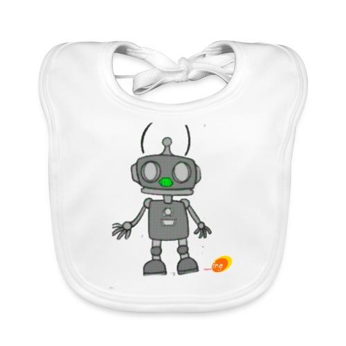 Robotino de desing impact - Babero de algodón orgánico para bebés