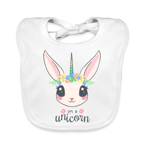 I am Unicorn - Baby Bio-Lätzchen