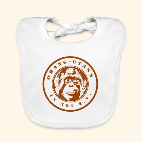 Logo Orang-Utans in Not e.V. braun - Baby Bio-Lätzchen