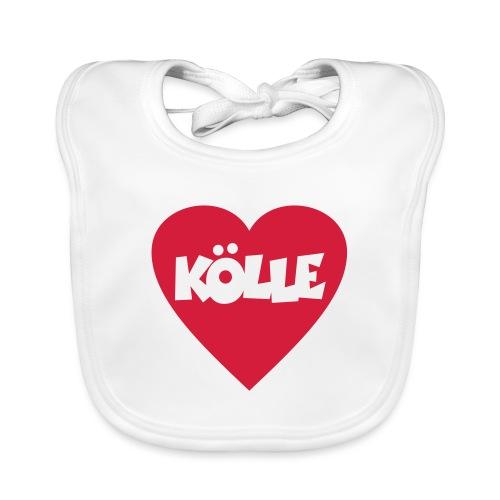 I Love Kölle - Ein Herz für Köln - Baby Bio-Lätzchen