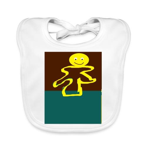 Glad mand - Baby økologisk hagesmæk