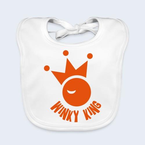 Winky King Logo - Bio-slabbetje voor baby's