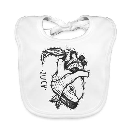 Apple Heart B - Babero ecológico bebé