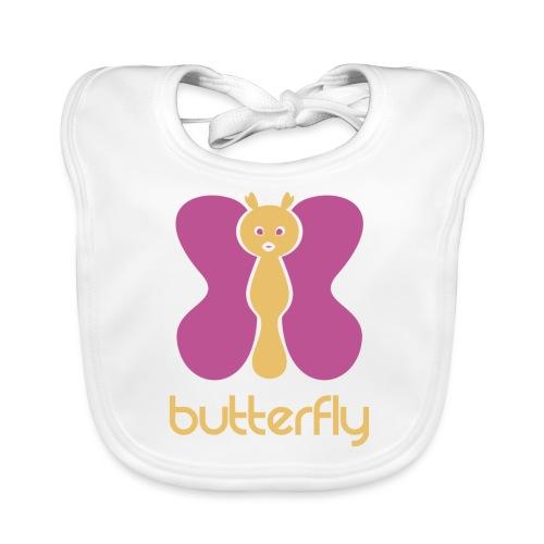 BUTTERFLY = MARIPOSA - Babero de algodón orgánico para bebés