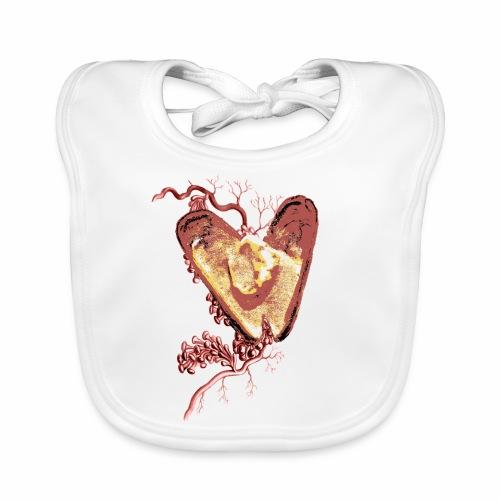Golden Shell Heart / Cuore Conchiglia con Oro - Bavaglino