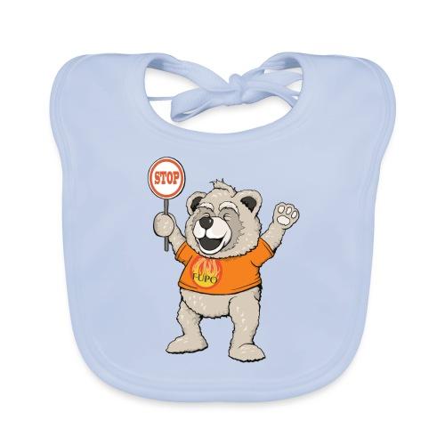 FUPO der Bär. Druckfarbe bunt - Baby Bio-Lätzchen