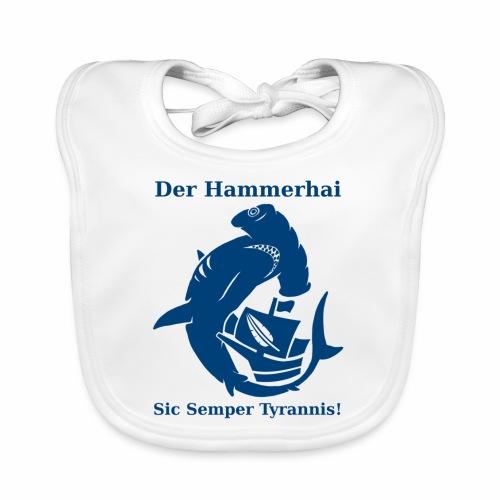 hammerhai blau - Baby Bio-Lätzchen