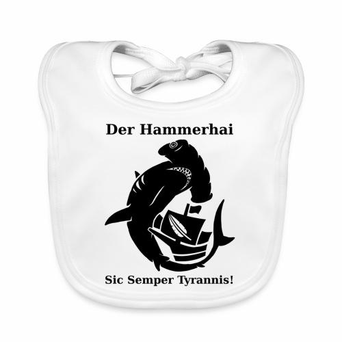 hammerhai schwarz - Baby Bio-Lätzchen