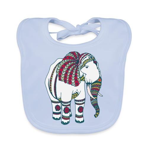 Colorful elephant - Baby Organic Bib