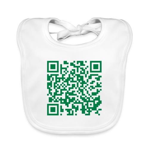 Envia Papilla al 5555 - Babero de algodón orgánico para bebés