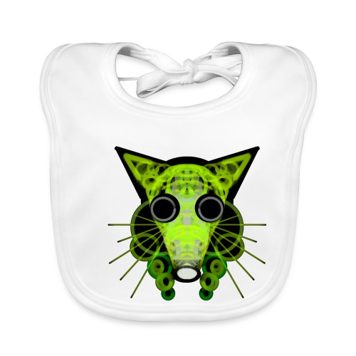 strange head of a rat in punk style - Baby Organic Bib