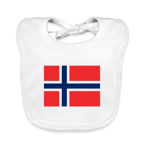 Bandera de Noruega - Babero de algodón orgánico para bebés