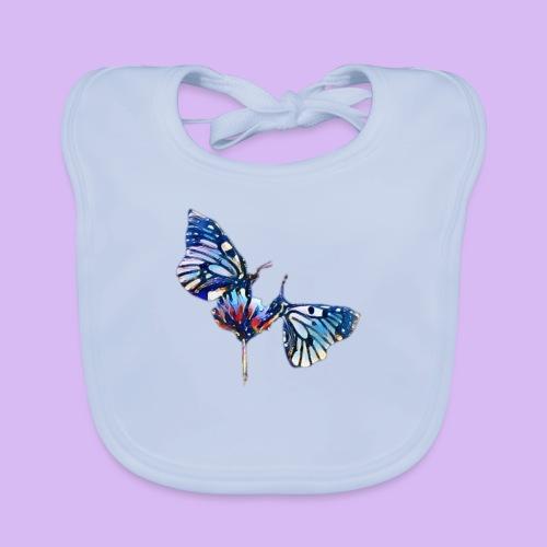 Coppia di farfalle - Bavaglino ecologico per neonato