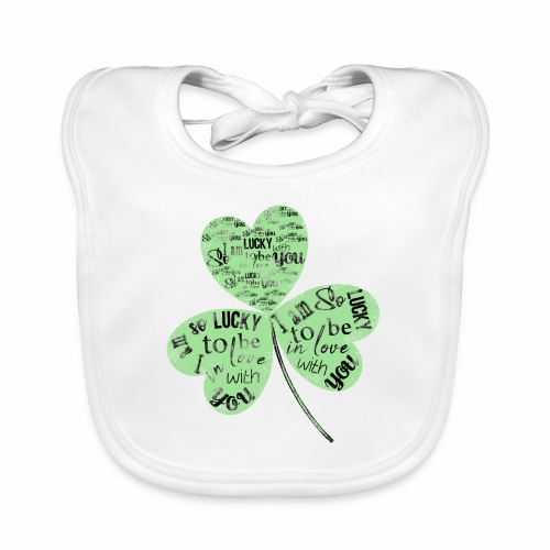Green Clover With Love Typography / Fortuna e Amor - Bavaglino