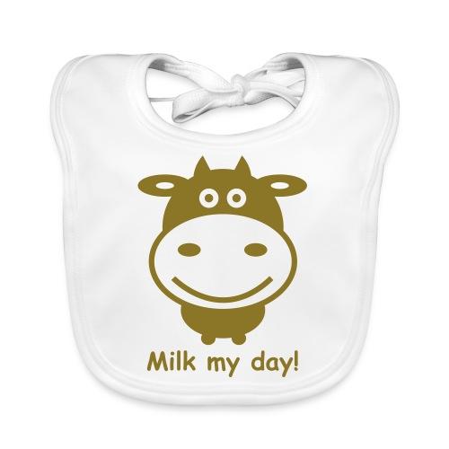 Kuh 1f.Milk my day - Baby Bio-Lätzchen