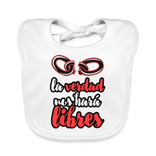 La verdad nos hará libres camiseta cristiana - Babero ecológico bebé