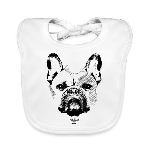 Französische Bulldogge Sketch - Baby Bio-Lätzchen