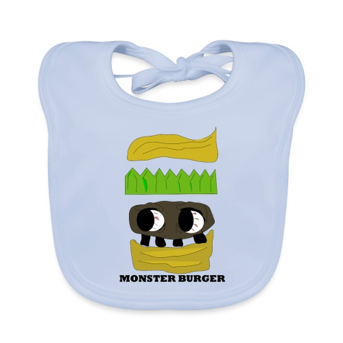 MONSTER BURGER - Baby Bio-Lätzchen