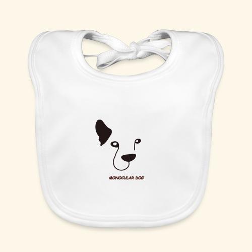 MONOCULAR DOG - Babero de algodón orgánico para bebés