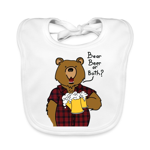 Beer and Bear - Bavoir bio Bébé