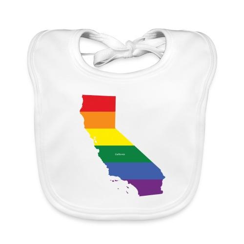 California Rainbow Flag - Organic Baby Bibs