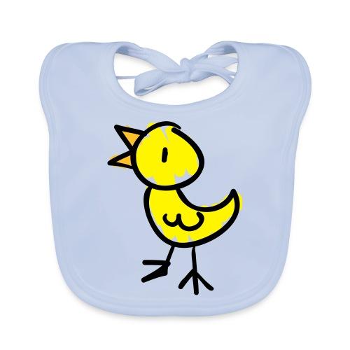 Bird Line Drawing Pixellamb - Baby Bio-Lätzchen