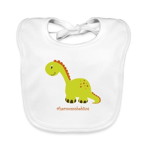 hermosos bebitos dinosaurio - Babero ecológico bebé