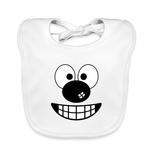 Funny cartoon face - Baby Organic Bib