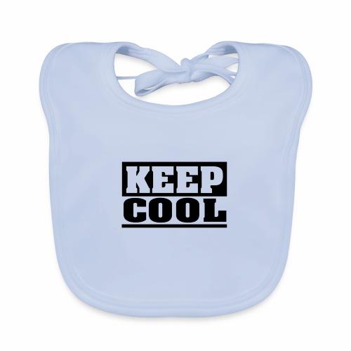 KEEP COOL Spruch, schlicht, cool - Baby Bio-Lätzchen