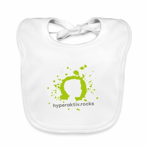 hyperaktiv.rocks Logo - Baby Bio-Lätzchen