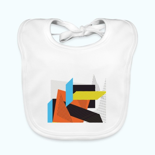 Vintage shapes abstract - Baby Organic Bib