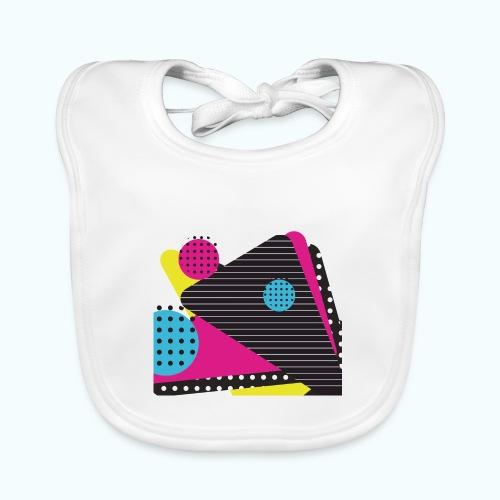 Abstract vintage shapes pink - Baby Organic Bib