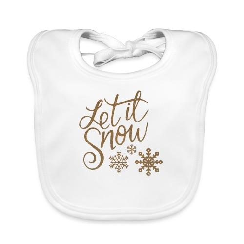 Let il snow Noël New shape fane design vintage - Bavoir bio Bébé