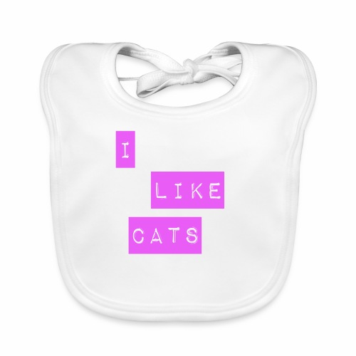 I like cats - Baby Organic Bib