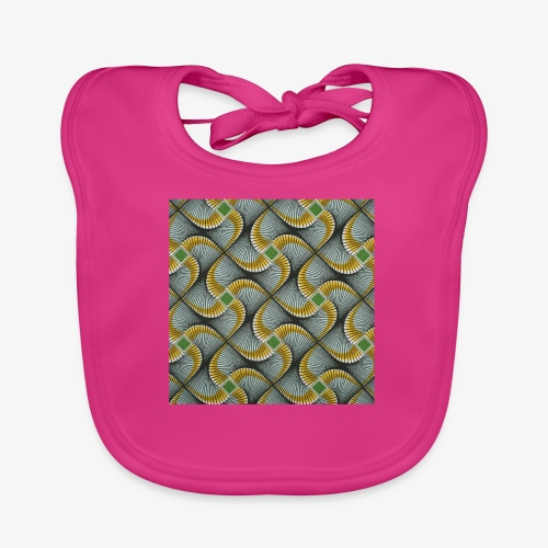 Design motif jaune vert gris - Bavoir bio Bébé