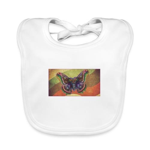 Mariposa Vintage - Babero de algodón orgánico para bebés