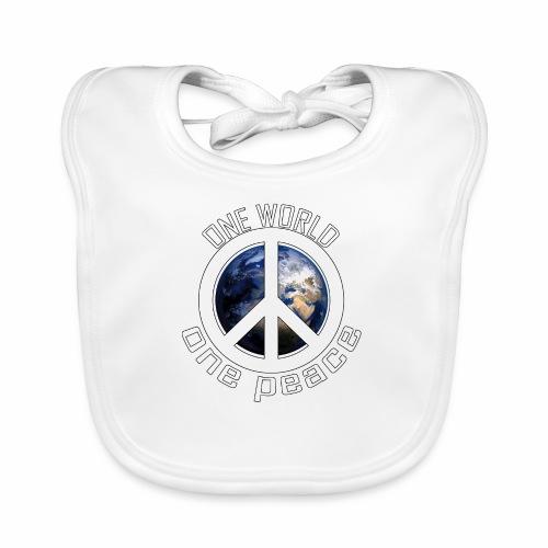 One World, One Peace - Baby Bio-Lätzchen