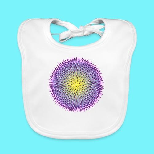 Fibonacci based image with radiating elements - Organic Baby Bibs