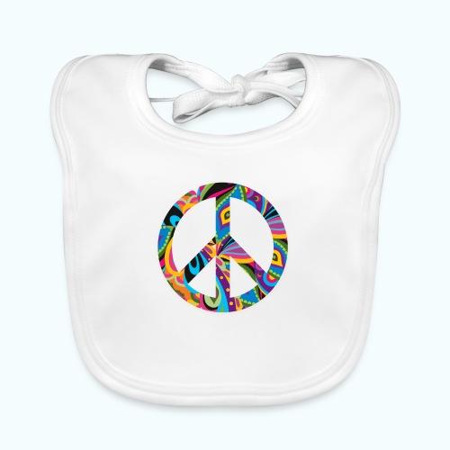 70s vintage hippie - Baby Organic Bib