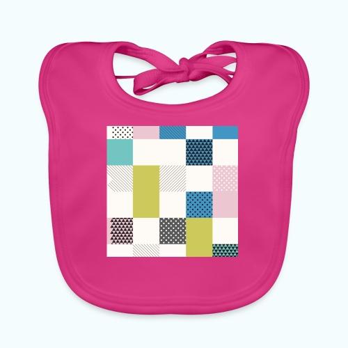 Abstract art squares - Baby Organic Bib